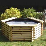 Norlog 175 Gallon Hexagonal Raised Pond