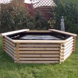 Norlog 300 Gallon Hexagonal Raised Pond