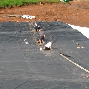 Help guides for pond lake irrigation liners for Pond liner installation